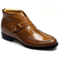 2.76 inch taller boots for men with buckle