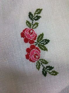This Pin was discovered by ınc Embroidery Flowers Pattern, Embroidery Fabric, Beaded Embroidery, Flower Patterns, Cross Stitch Embroidery, Cross Stitch Letters, Cross Stitch Rose, Cross Stitch Flowers, Cross Stitch Designs