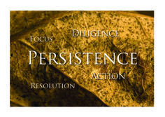 Where is persistence important and where does it get in the way?