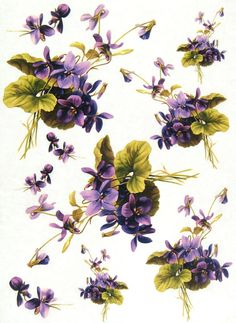 Ricepaper/ Decoupage paper, Scrapbooking Sheets /Craft Paper Violet