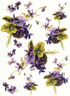 Ricepaper/ Decoupage paper, Scrapbooking Sheets /Craft Paper Violet