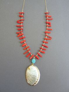 seashell necklace Little mermaid seashell necklace by Muse411, $30.00