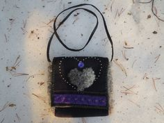 Handmade shoulder bag with unusual details by ArcticLightCrafts on Etsy