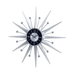 Starburst Wall Clock   dotandbo.com  With Googie design comes an influx of amazing starburst design pieces. This George Nelson inspired wall clock is perfect for any room in the house. Just add a pair of AA batteries, and it's ready to go.