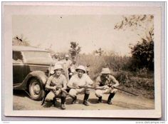 Photo 1956 Afrique Chasseurs Chasse Ford 48 Phaeton - Hunting Hunters old car vintage