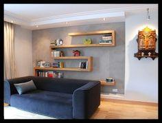 półka na książki na ścianie