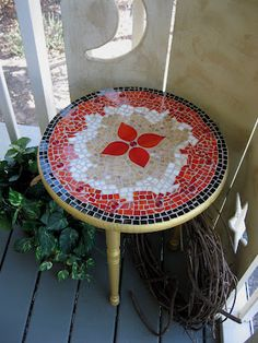DIY Make your own mosaic table.
