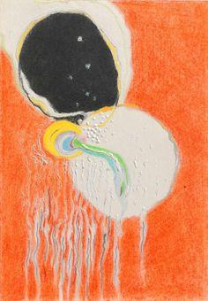 Karel Malich, Matka / 1995 / pastel, tempera, papír / 24'2×16'7 cm