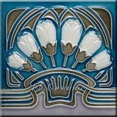 Art Nouveau Reproduction Decorative Ceramic tile 326