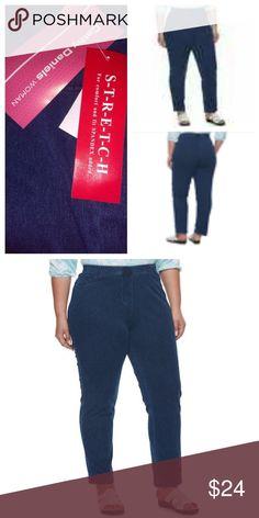 f2e13a72cc388 Cathy Daniels Pull-On Mid Rise Stretch Denim Jeans NWT