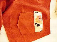 Backpocket shorts, detail.