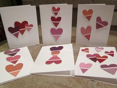 Valentines Day Card from Paint Swatches