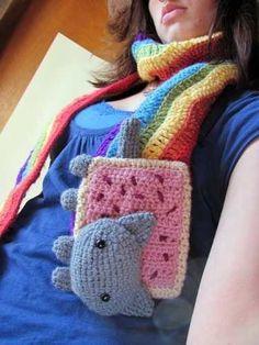 bonita bufanda tejida a crochet