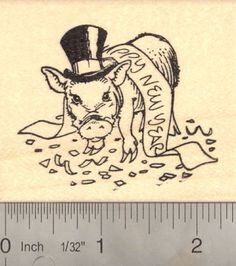 Happy New Year Pig Rubber Stamp * You can find more details by visiting the image link.