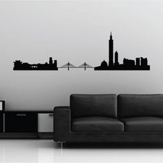 Aliexpress.com : Buy Hongkong Skyline Famous Landmarks Removable Wall Decor Decal Sticker 2015 Fashion Free Shipping from Reliable stickers dolls suppliers on wallsticker   Alibaba Group
