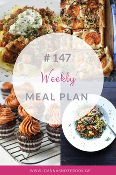 Brand new Weekly Meal Plan loaded with delicious recipes to help you plan out your week! Good Food, Yummy Food, Recipe Organization, Delicious Recipes, Meal Planning, Meal Prep, Organizing, Recipies, Lunch Box