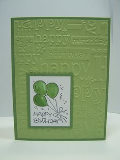 Stampin Up - Green and White