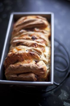 Ham and Cheese Pull-Apart Bread    by breadinfive  #Bread #Ham #Cheese