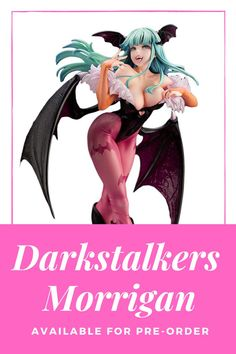 The Darkstalkers Morrigan Bishoujo Statue from Capcom and Kotobukiya is now available for pre-order! Click the link today to get your order in today to secure one of these exquisite statues. Statues, News, Link, Effigy