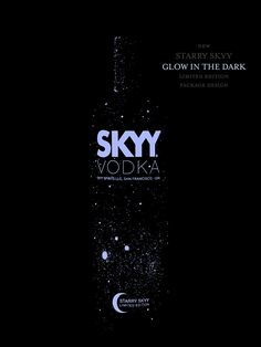 Starry SKYY Vodka Limited Edition Glow In The Dark Package Design by Pate…