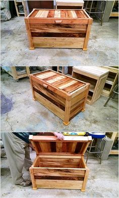 This wooden chest is again made with the very artistic assembling of the pallet wood. it can be used as a table to serve tea to the guests or to fill in the gap in your room if there is any . The artist Kivid Designs has displayed best of her creative skills in the making of this trunk.