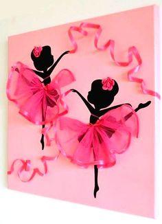 DIY: How to make Ballerina Canvas Wall Art – Of course, I love handicrafts Diy Canvas Art, Diy Wall Art, Diy Art, African Art Paintings, Office Christmas Party, Ballerina Art, Rangoli Ideas, Paper Crafts, Diy Crafts