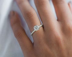 This white gold thin French-cut pave set diamond engagement ring is availabl… - Engagement Rings Vintage Circle Engagement Rings, Elegant Engagement Rings, Platinum Engagement Rings, Engagement Ring Settings, Circle Wedding Rings, Small Wedding Rings, Wedding Band, Petite Engagement Ring, Small Rings