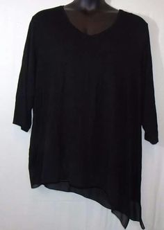 ***SOLD*** Black Asymmetrical Blouse, Size 26/28 by Lane Bryant  #cuteclothes #curvyfashion #lanebryant blouse #plussize #size26 http://www.urbanthick.com/…/c16/Urban_Thick%27s__Closet.html