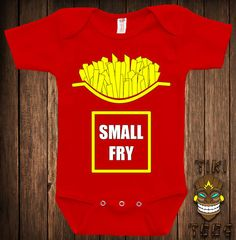 Small Fry Costume Fast Food French Fries Funny Halloween Funny College Humor Geek Nerd Cute Adorable Baby Infant One-piece Bodysuit Romper    Each