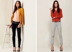 three pieces worth investing in this season are:  1. a silk blouse - at least one... but really, you may just want to start a collection  2. one mustard-colored article of clothing - your pale skin tone be damned  3. the perfect fitted blazer - bonus points if it has gold buttons, is made of velvet, or is some bold, fun color in lieu of the safe grey or navy