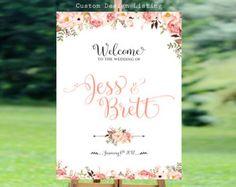Wedding Welcome Sign wedding chalkboard sign Rustic Wedding