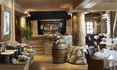 Hotel Barmes de l'Ours - a five star luxury hotel in Val d'Isere, France. Luxury tailor made ski holidays with Kaluma Travel. Restaurants Gastronomiques, Guide Michelin, Val D'isère, Stations De Ski, Hotel Restaurant, Ski Holidays, Liquor Cabinet, Dining, Luxury Hotels
