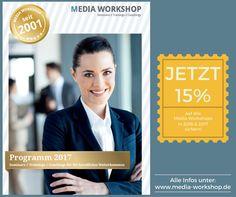 Der Media Workshop- November wird digital! Lest in unserem aktuellen Newsletter, welche spannenden Themen rund ums Online-Marketing und Digitale Kommunikation auf Euch warten. Und nicht vergessen: Bis zum 28. Oktober könnt Ihr Euch 15% Preisvorteil auf alle Media Workshops in 2016 und 2017 sichern. Alle Infos hierzu, findet Ihr direkt hier: http://www.media-workshop.de/newsletter/2016/10/index.html Wir freuen uns auf Euch und Eure Kollegen!