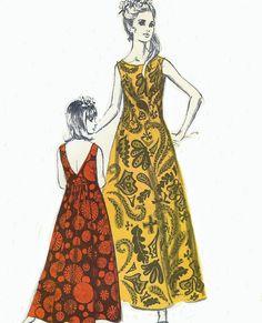 1970s Polynesian Pattern 204 Womens Pilialoha Back by CloesCloset