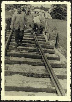 Westerbork, Holland, Construction of railway tracks leading to the camp. - Westerbork, Holland, 1942-1943, a personal album of camp commander Albert Konrad Gemmeker.