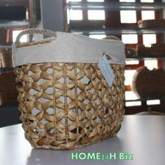 Home24h co,.ltd: Easter Baskets Water Hyacinth material Home24h / Easter Basket - Home24h.biz