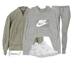 """""""Untitled #2969"""" by breannamules ❤ liked on Polyvore featuring adidas, NIKE, women's clothing, women, female, woman, misses and juniors"""