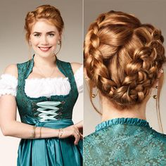 Palina Rojinski ist das offizielle Gesicht von Pantene Pro-V. Kein Wunder, bei … Palina Rojinski is the official face of Pantene Pro-V. No wonder, with the mane! On the occasion of the Oktoberfest the Work Hairstyles, Creative Hairstyles, Crown Hairstyles, Braided Hairstyles, Hair Styles 2016, Curly Hair Styles, Oktoberfest Hair, Sisterlocks, Diy Hairstyles