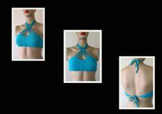 EXPRESS CARGO Emerald Crochet Bikini Top Women by formalhouse
