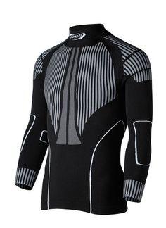 BBB Thermolayer - Camiseta de ciclismo para hombre, color negro, talla XL-XXL BBB   Gran eficiencia térmica Zonas de rejilla que mejoran la transpiración en zonas críticas Zonas específicamente diseñadas para un ajuste perfecto al cuerpo Sin costuras Manga larga