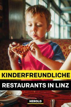 Unterwegs mit Kindern? Da ist es nicht immer so einfach, ein passendes Restaurant zu finden. wir stellen dir 5 kinderfreundliche Restaurants in Linz vor, die Kinder herzlich willkommen heißen. Food, Linz, Vegetarian Restaurants, Simple, Tips, Essen, Yemek, Meals