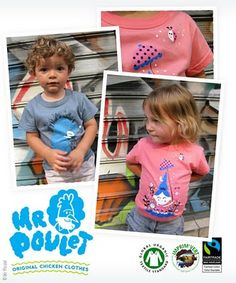 Monsieur Poulet kids tee shirts l #organic #fairtrade