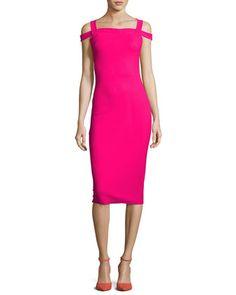 Mariska+Cold-Shoulder+Sheath+Dress+by+La+Petite+Robe+di+Chiara+Boni+at+Neiman+Marcus.
