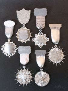 Letterpress award medals