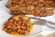 Mes lasagnes d'aubergines faciles et rapides Today I offer you a superb recipe for eggplant lasagna! It is so possible to combine pleasure and slimming! Healthy Meal Prep, Easy Healthy Recipes, Meat Recipes, Healthy Snacks, Vegetarian Recipes, Chicken Recipes, Snack Recipes, Easy Meals, Eggplant Lasagna