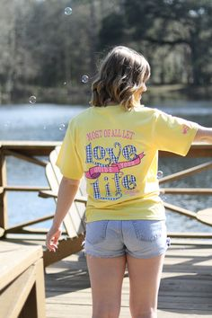Bring on the weekend!  Shop Southern Girl Prep for the best weekend preppy apparel. | Let Love Guide your Life t-shirt | color yellow | long and short sleeve | youth and adult sizes