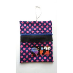 Tobacco pouches with foxes by HandmadeBySerena on Etsy