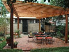 How to Build a Wood Pergola : Outdoors : Home & Garden Television - another option