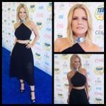 red carpet: top by Niki Schwan skirt by Cynthia Rowley hair & makeup by styled by Quentin Owens Teen Choice Awards, Cynthia Rowley, First Night, Get The Look, Carry On, Red Carpet, Hair Makeup, Skirts, Tops