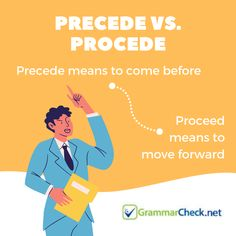 Precede vs. Proceed English Lesson Plans, English Lessons, Proofreader, English Vocabulary Words, To Move Forward, Grammar, Spelling, Texts, Language